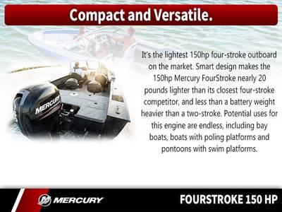2018 Mercury Marine® FourStroke 150 HP Base   Angler's